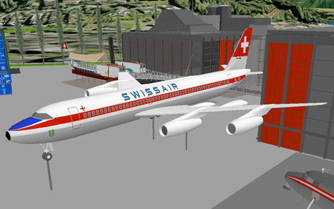 swissair avion 3D