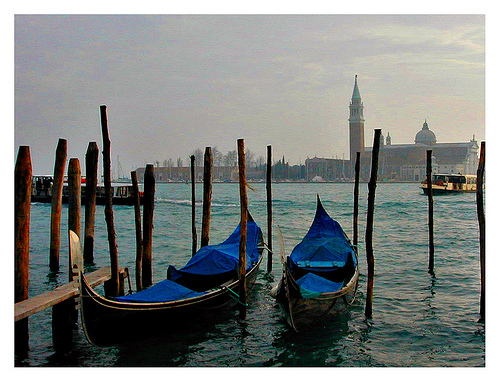Gondalas in Venice (Homage to Monet) (photo: alessandraelle)