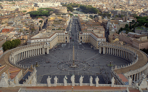 piazza San Pietro from the above (photo: Alexandra Svatikova)