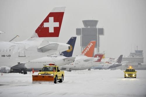 Genève sous la neige (photo: Keystone / Martin Trezzini)