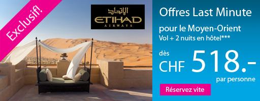 Offre Etihad Airways vol + hôtel - Cliquer pour réserver