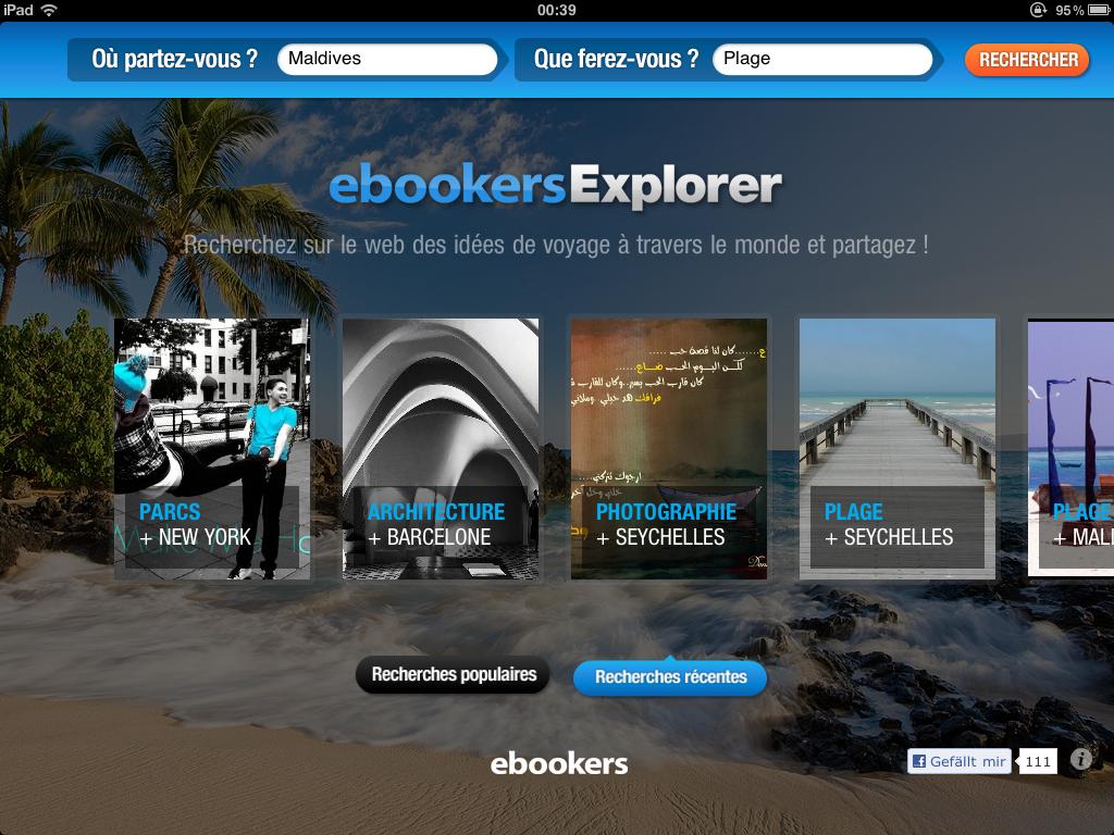 ebookers explorer : Maldives, plage