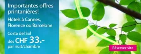 Hôtels en Europe - offre de printemps 2012 ebookers