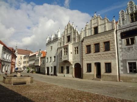 Les façades de Slavonice