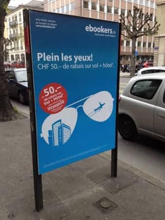 ebookers.ch est dans la rue