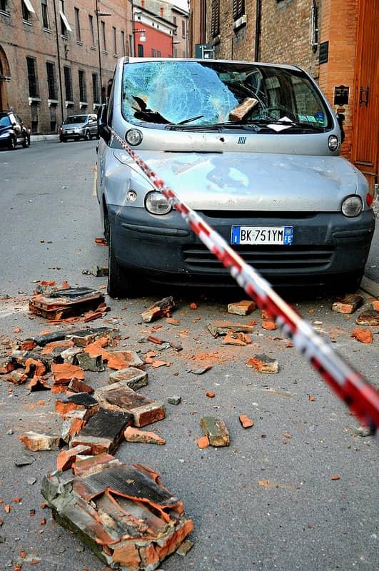 Ferrara et alentours, victimes de tremblements de terre