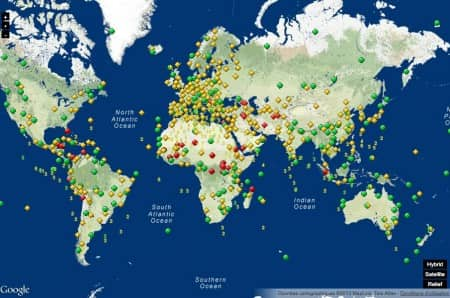 World Heritage Map @ UNESCO