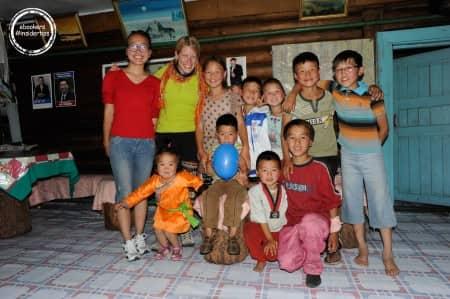 Britta dans une famille mongole