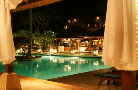 Schöner Ferienstart: mein Hotel in Nusa Dua. Foto: Claudia Lambrich (www.wortvoll.ch)