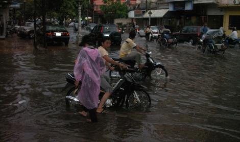 Phnom Penh nach dem Regen. Foto: Gabriela Rolli