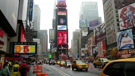 Der times square - zum letzten mal mit durchgangsverkehr
