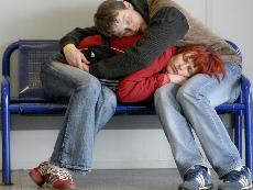 Flughafenschlaf