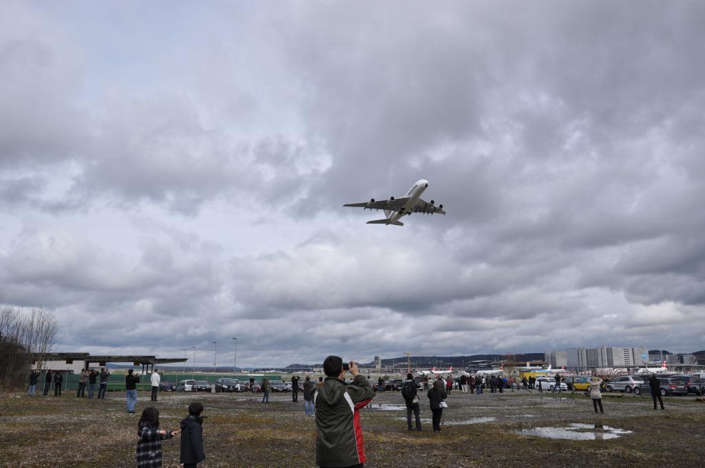 A380 - Erster Start ab Zürich