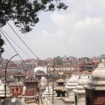 Sicht auf Pashupatinath Tempelanlage und Kathmandu