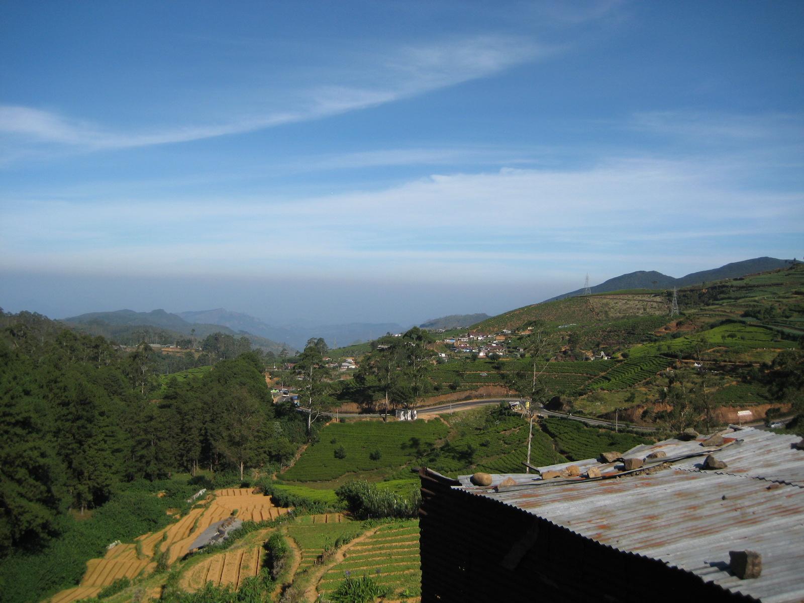 Hügellandschaft im srilankischen Hochland