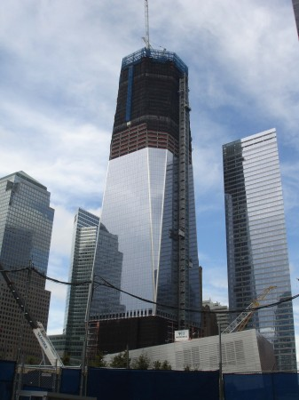 So sah das One World Trade Center am 16. August 2011 aus. 2013 soll es fertig sein.