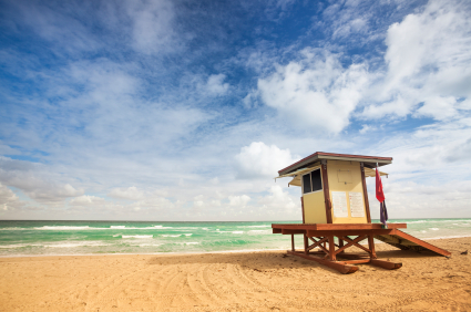 Lifeguard post in Fort Lauderdale Miami Florida